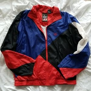 Vintage Olympics Red White & Blue Windbreaker